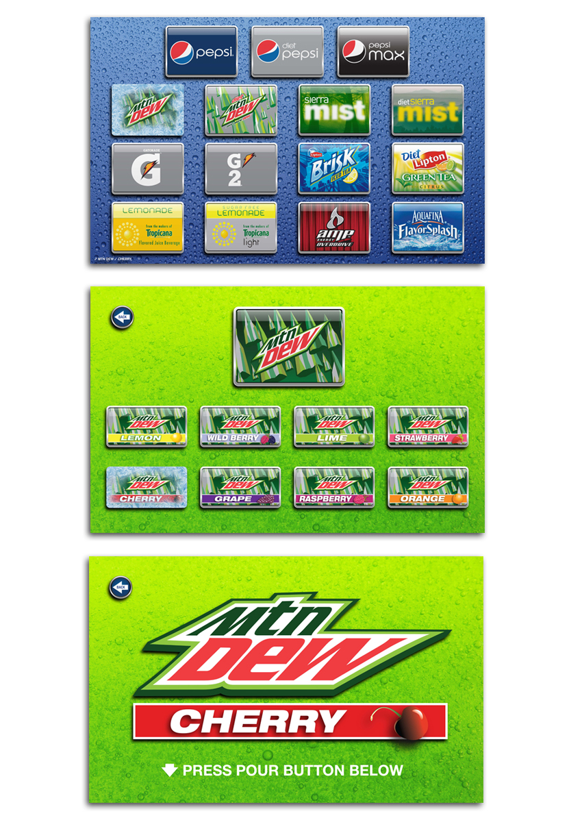 pepsi soda fountain interface concepts
